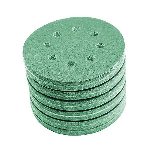 Preisvergleich Produktbild 125 mm green Exzenter Schleifscheiben , passend für Bosch DIY PEX 220 A Sortiment SET 50 Scheiben P2000 P1500 P1200 P1000 P800 , green Film