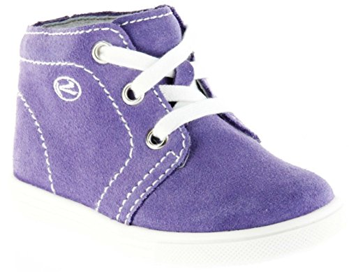 Richter Kinder Lauflerner Velourleder Lila Mädchen-Schuhe 0126-141-4000 Lavender Sing, Farbe:Violett, Größe:21