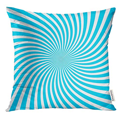 Cupsbags Throw Pillow Cover Abstract Swirling Radial Vortex Helix Architecture Decorative Pillow Case Home Home Decor Square 18x18 Inches Pillowcase