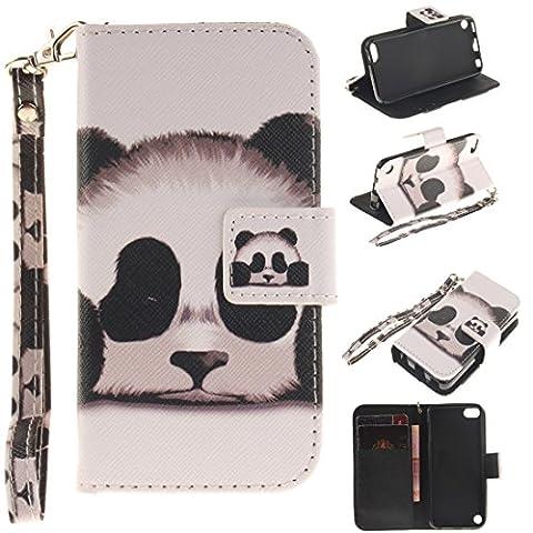 Chreey Coque Apple iPod touch 6 / touch 5 (4 pouces),PU Cuir Portefeuille Etui Housse Case Cover ,carte de crédit Fentes pour ,idéal pour protéger votre