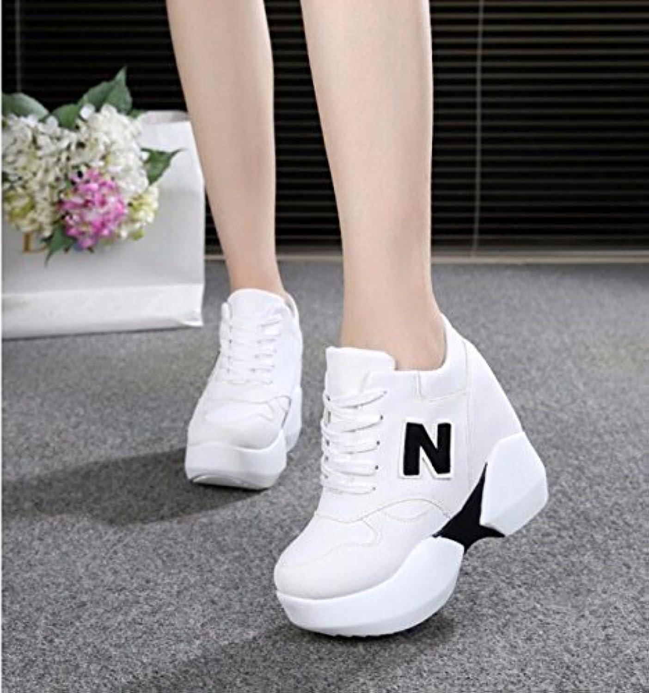 GTVERNH Zapatillas de tacón alto para mujer, verano/primavera, 10 cm, zapatillas de esponja para tarta, altura... -