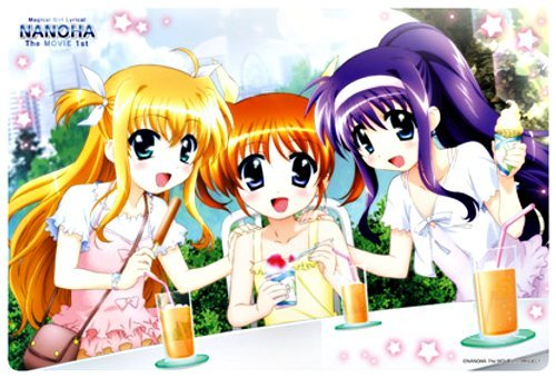 [Magical Girl Lyrical Nanoha The Movie 1st] Large Format Mouse Pad [Tea Time]