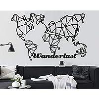 Amazon Fr Carte Du Monde Decorations Murales Accessoires De