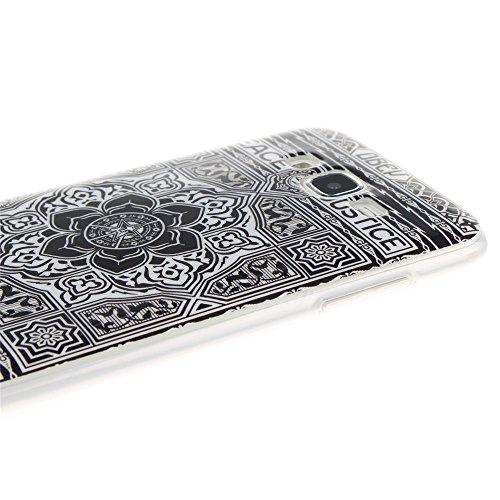 Samsung Galaxy J5 hülle MCHSHOP Ultra Slim Skin Gel TPU hülle weiche weiche Silicone Silikon Schutzhülle Case für Samsung Galaxy J5 - 1 Kostenlose Stylus (Löwenzahn sich verlieben (Dandelions Fall in  Blumen Tribal Aztec (Flower Tribal Aztec)