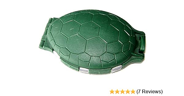 12 COMPARTMENT GREEN TURTLE FISHING TACKLE BIT BOX FLY  HOOKS SWIVELS BEADS