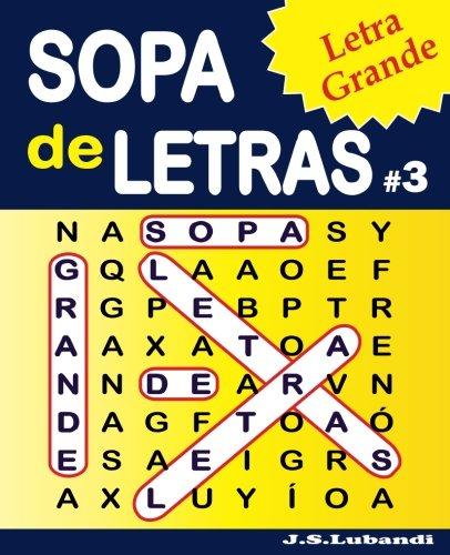 SOPA de LETRAS #3 (Letra Grande): Volume 3