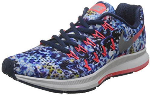 Nike Damen Wmns Air Zoom Pegasus 33 Rf E Laufschuhe Azul Marino (Mid Nvy / Rflct Slvr-Brt Crmsn)