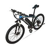 GTYW, Elektrisch, 26 Zoll, Aluminiumlegierung, 36V 20ah, Fahrrad, Berg, Fahrrad, Erwachsenen Moped,Blackandblue-36V20ah