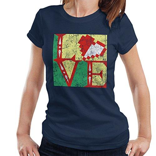 Links Heart Legend Of Zelda Women's T-Shirt Navy Blue