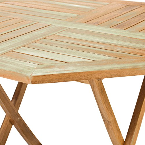 94 95 divero gl05529 8eckiger balkontisch gartentisch beistelltisch holz teak tisch fr. Black Bedroom Furniture Sets. Home Design Ideas