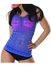 Damen Netz Shirt, Top in vielen Farben und Größen (32-40)