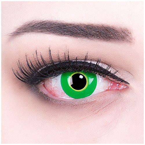 Meralens Hulk Green Kontaktlinsen mit Pflegemittel ohne Stärke, 1er Pack (1 x 2 Stück) (Augen Des Himmels Kostüme)