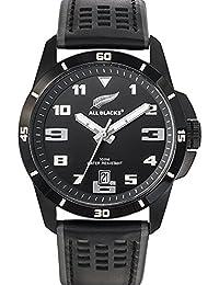 All Blacks - 680271 - Montre Homme - Quartz Analogique - Cadran Noir - Bracelet Cuir Noir