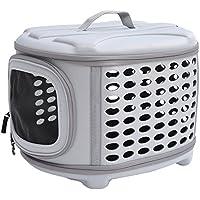 PawHut Transporttasche Tragetasche für Tiere Hunde Hundetasche Katze in verschiedenen Farben (Lichtgrau)