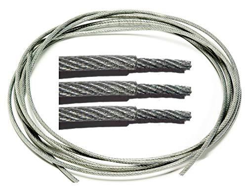 Câble Gainé Ø 3/4mm Transparent inox A4 Souple 7X7 (49 fils) Différent Ø inox A4 Longueur 10m 20m 30m 50m 70m 100m Rouleau 100m 250m (Couronne 20m)