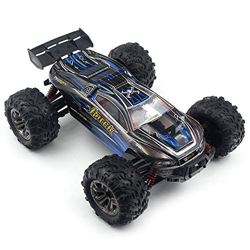 HHtoy 1: 16 Maßstab Fernbedienung Auto Buggy Fahrzeug 2,4 GHz 36 km/h RC LKW Funkferngesteuerte Hochgeschwindigkeits-Geländewagen Kinder und Erwachsene Geburtstag (Color : Blue)