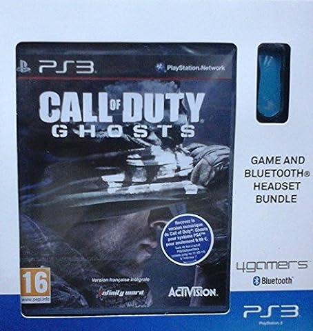 Pack oreillette bluetooth ps3 bleu + Call of Duty : Ghosts