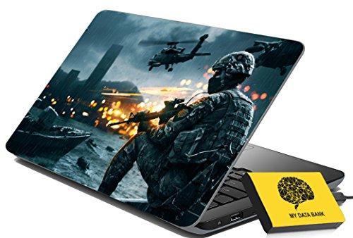 100yellow Battlefield 3 Gaming Laptop Skins Decal for Lenovo- Dell- HP- Acer-Asus, 15.6-inch (Multicolour)