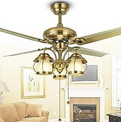 Pige 42-inch Ceiling Fan Fan Lamp Modern Minimalist Restaurant Lamps Bedroom Living Room Iron Leaf Fan Light