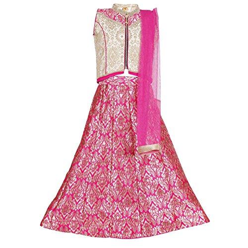Ashwini Mädchen Kleid Lehenga Choli (4-5 Jahre) (Kinder Kleid Indian)