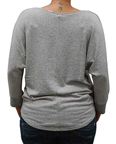 Key largo, Damen Langarm-Shirt, Beat Grey meliert