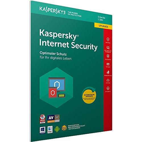 Kaspersky Internet Security 2018 Upgrade | 5 Geräte | 1 Jahr | Windows/Mac/Android | Download