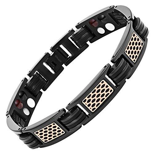 mens-willis-judd-braccialetto-magnetico-al-titanio-con-rosa-in-gomma-motivo-a-nido-dape-e-nero-con-a