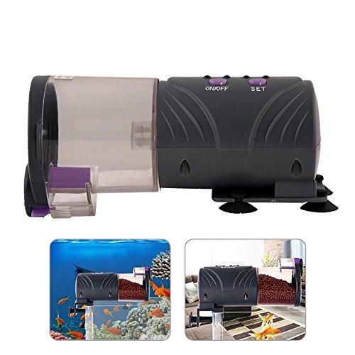 Pawaca Alimentador automático para Peces/Tortugas para Acuario, temporizado, automático, dispensador de Alimentos para Viajes de Negocios/Viajes y Negocios de Emergencia