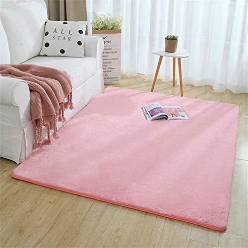 Fluffy Plain Lammfell Teppich Kunstpelz Shaggy Bereich Teppiche Zimmer Matten