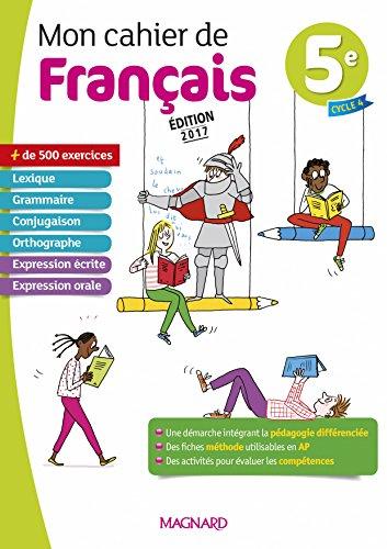 Mon cahier de français 5e