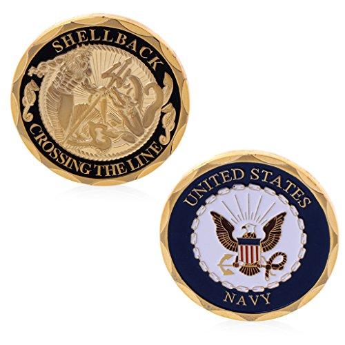 Baoyl Sammelmünze aus der US Navy Shellback Crossing The Line Sailor Eagle Collection