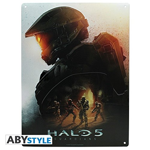 Halo 5 - 3D Blechschild - Master Chief - 38 x 28 cm (Helm Kostüm Chief Master)