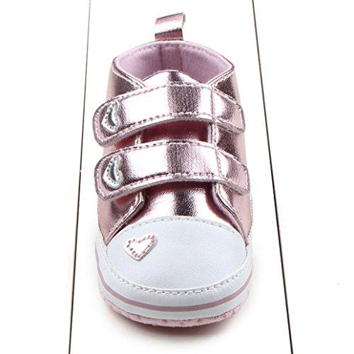 Clode® Mädchen Sneaker Säuglings Weich Schuhe Sohle Krippe Rosa ggawqr