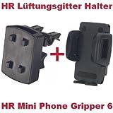 HR Richter Universal Handy Smartphone PDA KFZ Halter Halterung Mini Phone Gripper 6 1245/46 und Lüftungsgitter Halter für Apple iPhone i-Phone 3G 3-G 3GS 3G S 4 4S 4-S Base Lutea Lutea 2 II