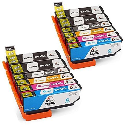 Mipelo 12 Pack Compatible Epson 26 26XL Cartouches d'encre Compatible avec Epson Expression Premium XP-605 XP-520 XP-510 XP-600 XP-625 XP-700 XP-710 Imprimante