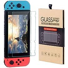 Nintendo Switch Console CSL Twin Pack Premium Tempered Glass 9H High Response Clear Film Anti-Scratch Anti-Bubble Screen Protector (Pack de 2)