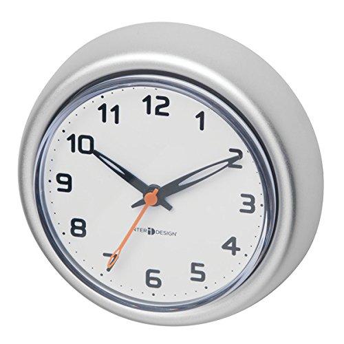 mDesign Orologio da parete per doccia con ventosa – Orologio resistente  all'acqua antiossidante – Ideali anche come orologi da cucina – ...