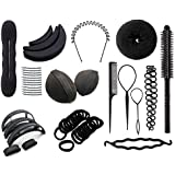 Out Of Box Combo Of 50 Hair Accessories, Magic Bun Donut Maker, Hair Volumizer, Banana Bumpits, Hair Pin Clips...