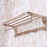 Moderne/zeitgemäße accessoires badezimmer Küche Badezimmer Handtuchhalter Hecktasche Anhänger rose gold Folding Rack Aktivität Haken Handtuchhalter
