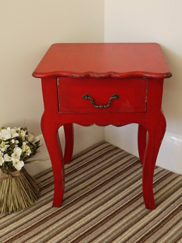 Brown & Ginger Vintage Effekt Nachttisch/Schrank Größen, rot, S -