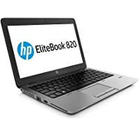 HP EliteBook 820 G2 - PC Portable - 12.5'' - (Core i5-5200U / 2.20 GHz, 8Go de RAM, Disque SSD 128Go SSD, WiFi, Windows 10, AZERTY Clavier) Modèle très Rapide (Reconditionné)