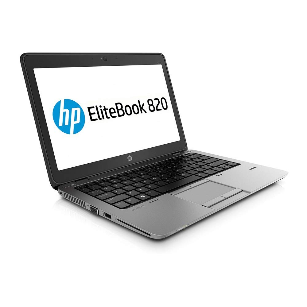 "HP EliteBook 820 G2 – PC portátil – 12.5 "" – (Core i5-5200U / 2.20 GHz, 8GB RAM, SSD 128GB SSD, WiFi, Windows 10, Teclado QWERTY) Modelo Muy rápido (Reacondicionado)"