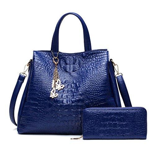 Einfache Art- Und Weisemutter-Beutel-Handtaschen-Dame-Schulter-Diagonalpaket-Paket Einfache Bunte Taschen-Beutel-Einkaufstasche Blue