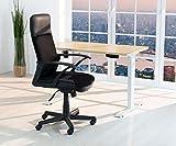 eSmart Germany elektrisch höhenverstellbarer Schreibtisch | Mit Holz-Tischplatte aus Ahorn Dekor und Tischgestell | 120 x 60 cm - 2