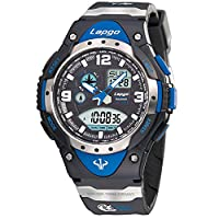 Men's watches/100u.s. waterproofing,outdoor sports,running,countdown,luminous,alarm clock,multifunctional electronic watches-C