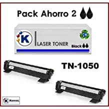 2x Tóner para impresoraTONER Brother HL1210W (Tóner no original). 2xBrother TN1050 compatible. Enviado desde Madrid.
