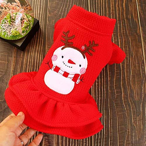 Cherish Weihnachten Haustier Kleid Kostüm für Kleine Hunde Zwergspitz Bichon Katzen Winter Kleidung - 5 Größe zu (Top 5 Kostüm Für Haustiere)