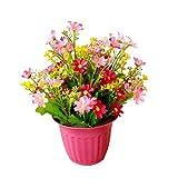 LAAT Künstliche Blumen Unechte Blumen künstliche Topf Künstliche Sträuße Kunstpflanzen Grün Künstliche Pflanzen mit Blumentopf für Familie und Büro dekoriert