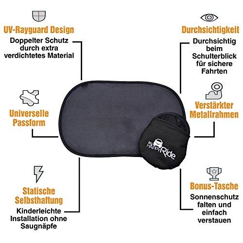 Kinder Auto-Sonnenschutz, Selbsthaftende Sonnenblenden für Seitenfenster (2 Stück), Schutz vor schädlichen UV-Strahlen, Baby Autosonnenschutz passt universell -