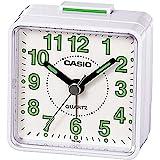 Casio TQ-140-7DF Analog Alarm Clock - White